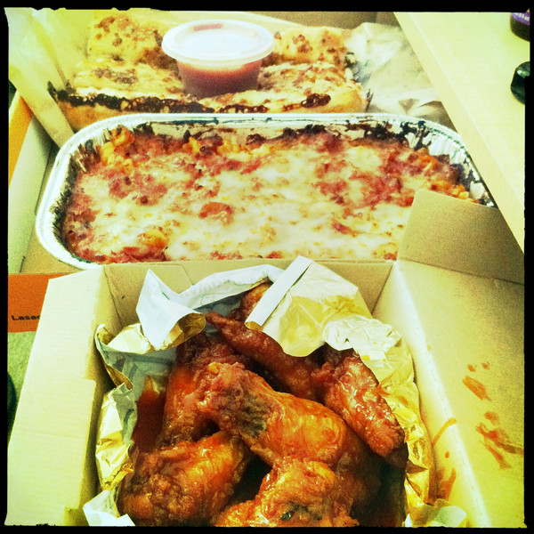 Day 46: Chicken Wings, Lasagna, Cheese Sticks