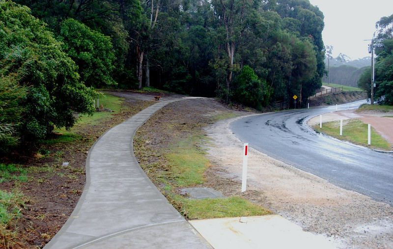 Shady gully walking track linked to Shire footpath