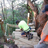 Wakefield track, Marlo, constructing landing and steps