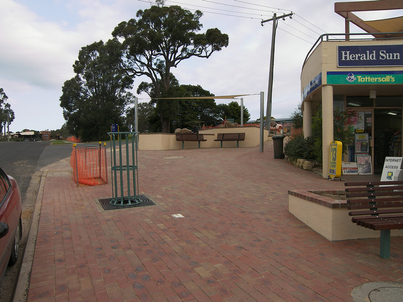 Mallacoota streetscape, paving completed