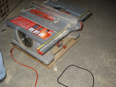 Table saw used to rip and make long cuts for some of the complex cuts.
