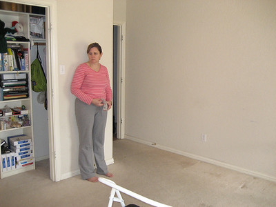 Room before carpet is removed.