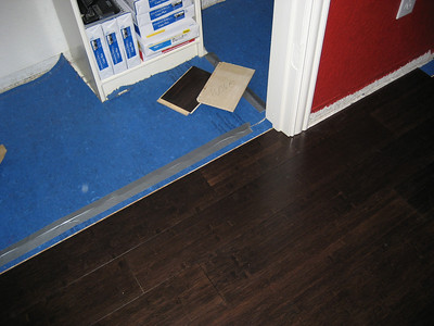 Note, we had to remove the previous row, slide the closet door row in and then reseat the row and the closet door row.
