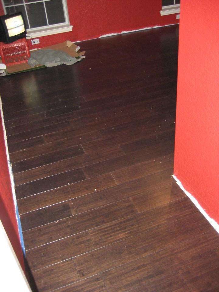Flooring complete.