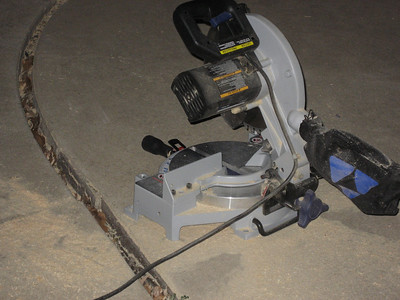 Radial saw used to cut to length.