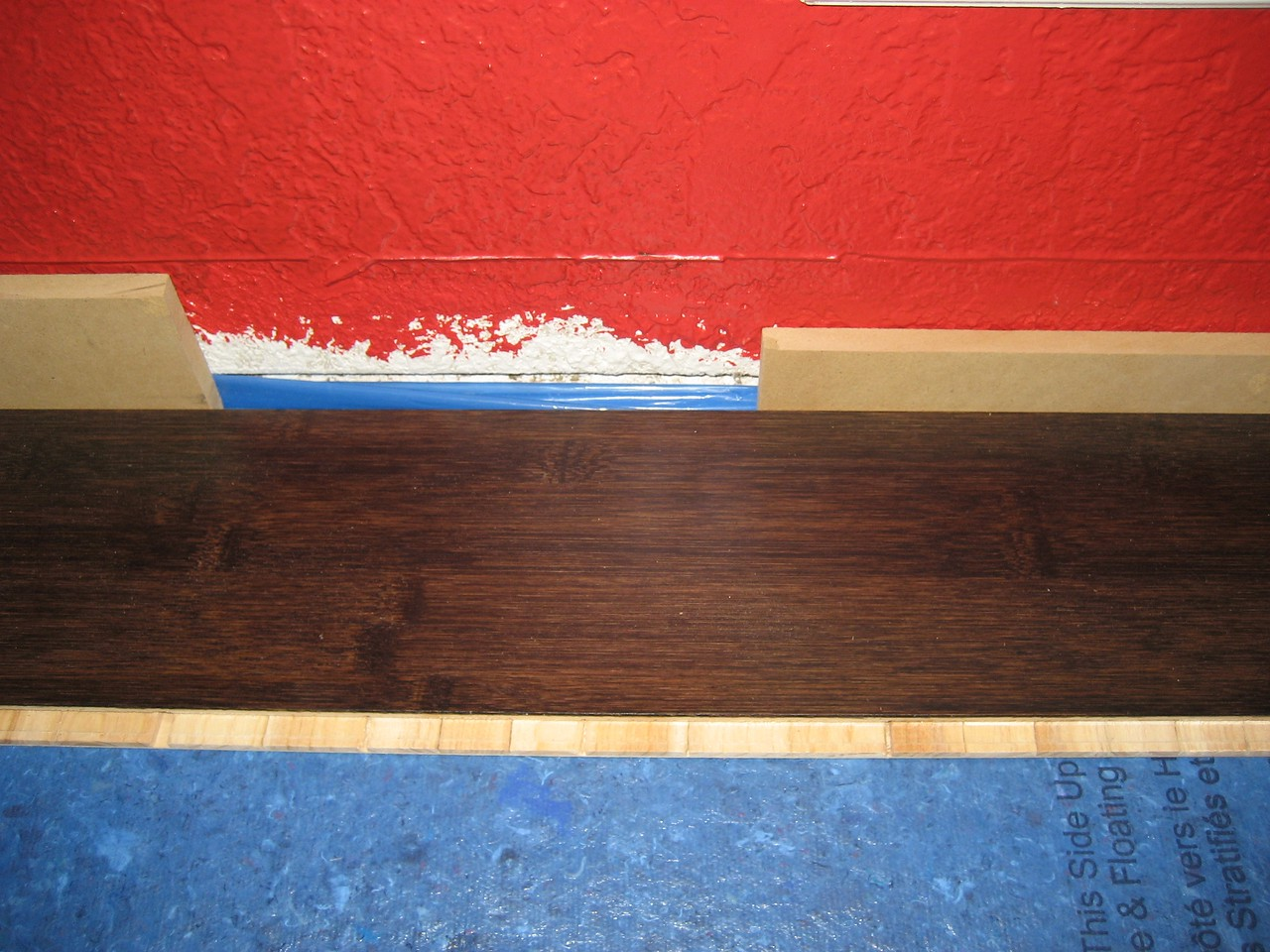 Flooring through putting down second row of padding