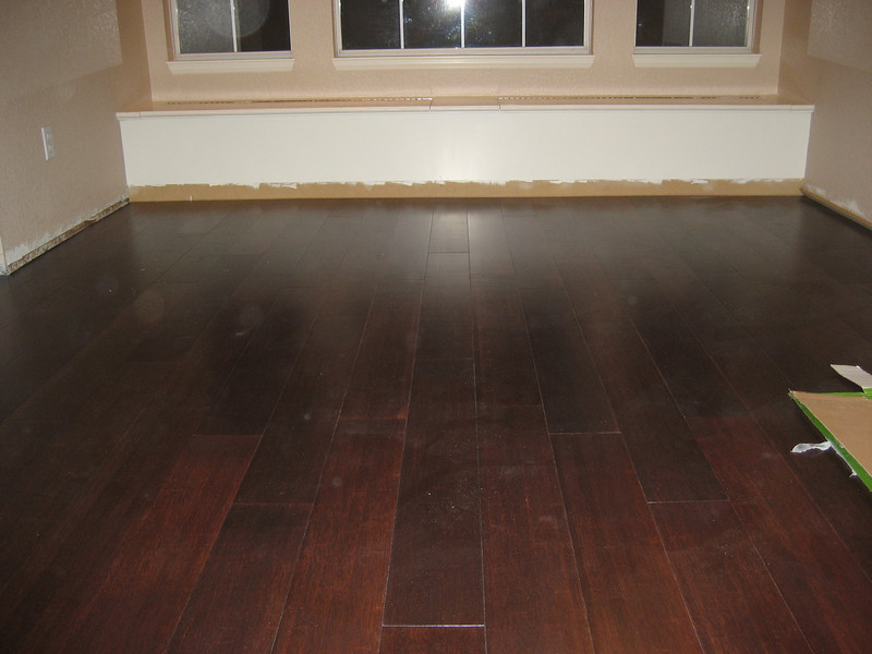 Flooring installed.