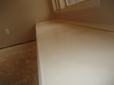 Window seat before painting.