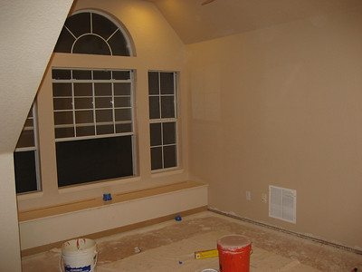 Room with final coat applied. Eggshell finish.
