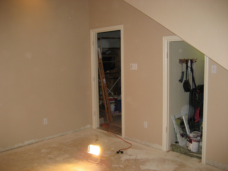 Room cleaned up and ready to start flooring.