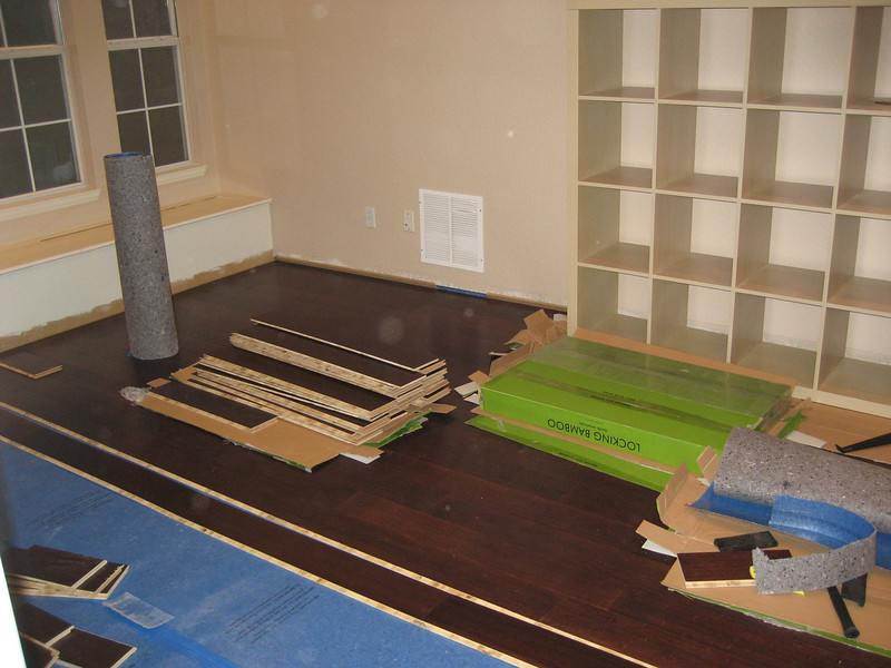 More progress in the main room.