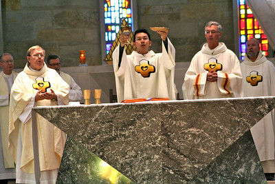 Fr. Bill Pitcavage (vice provincial), Fr Vien Nguyen and Fr. Tom Cassidy