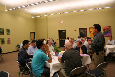 Fr. Jack Kurps, facilitator of the gathering, introduces the day's activities.