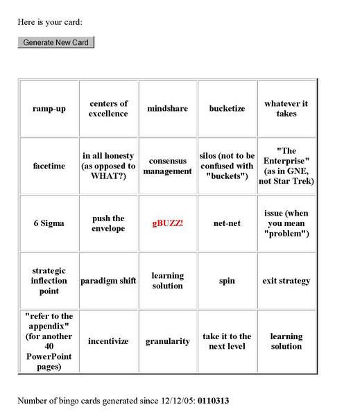 gBuzz Bingo