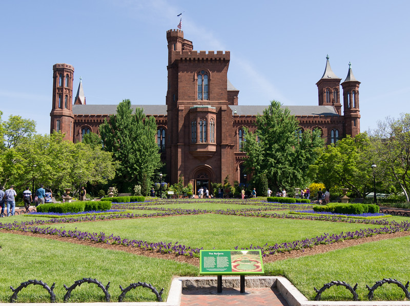 Formal garden behind the Smithsonian Castle, Washington DC