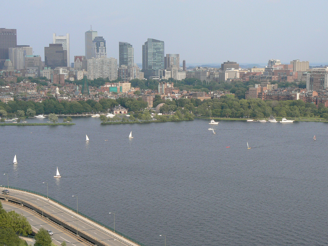 Boston, as seen from MIT housing