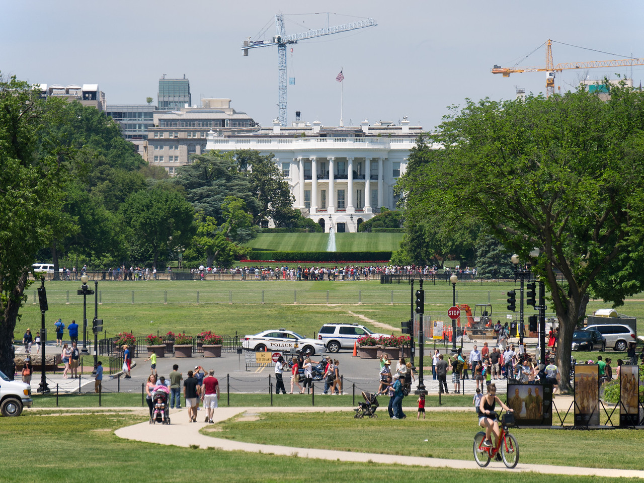 From near the Washington Monument you can see the White House
