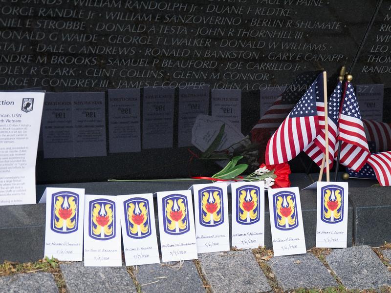 At the VIetnam Memorial wall