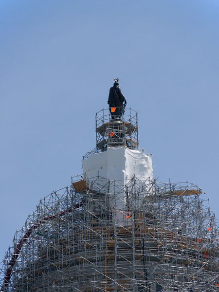10 ton statue on top of the Capital dome