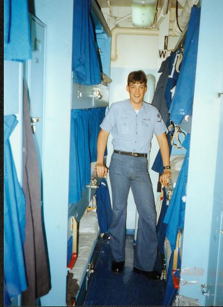 Jeff in Berthing USS John Hancock