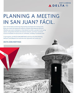 Delta Airlines Advertisement Image: San Juan, Puerto Rico