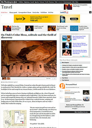 Washington Post (April 2013) Story on Cedar Mesa area of Utah