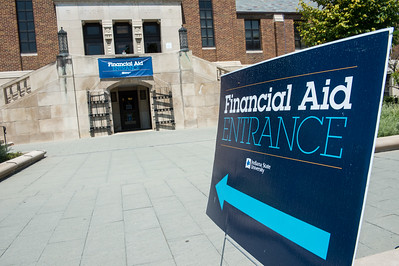 Financial aid sign