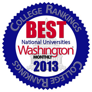 National Recognition - Washington Monthly 2013 - Copy