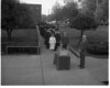 memory lane time capsules - Graduates line up to deposit mementos in the time capsule during the commencement ceremony in May 1964