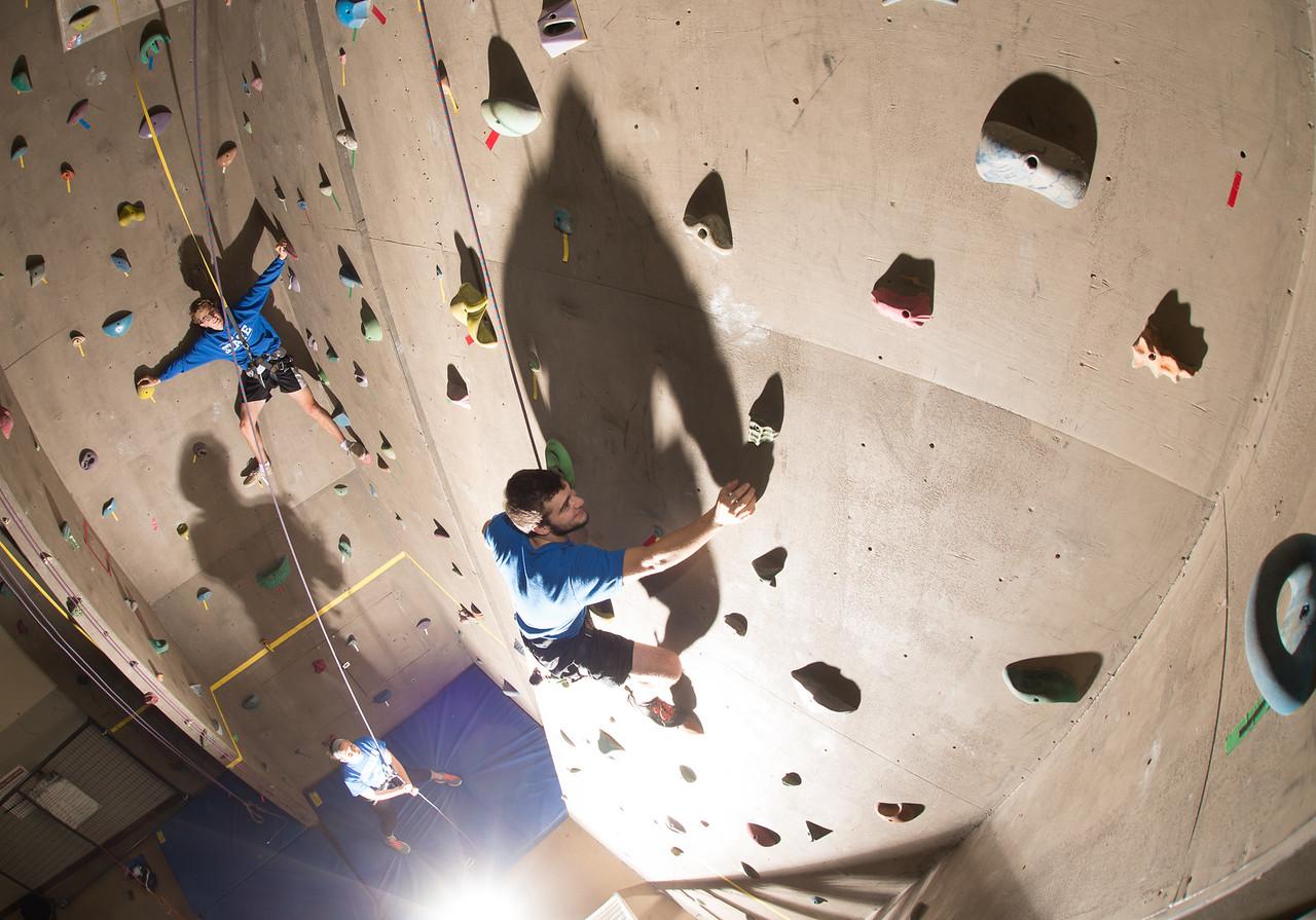 Climbing wall for postcard