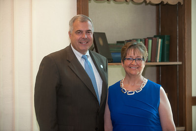 College of Education dean Brad Balch and associate dean Denise Collins