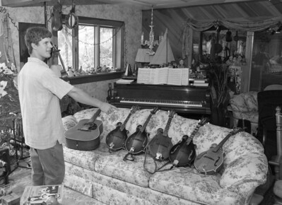 Solly Burton at his home for magazine story