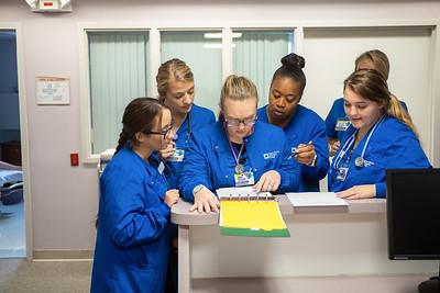 Nursing students in RHIC Center