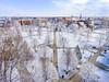 Aerial snow footage