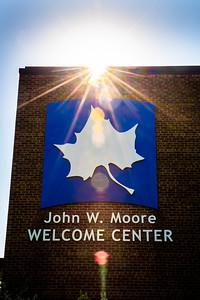 Welcome Center sunburst