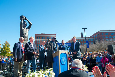 The Larry Bird statue was unveiled and dedicated on Saturday, Nov. 9, during a ceremony on the soutwest side of Hulman Center