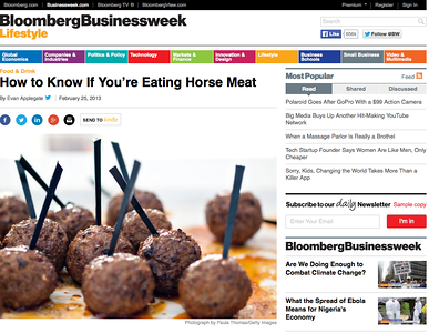 Bloomberg Businessweek  Meatballs