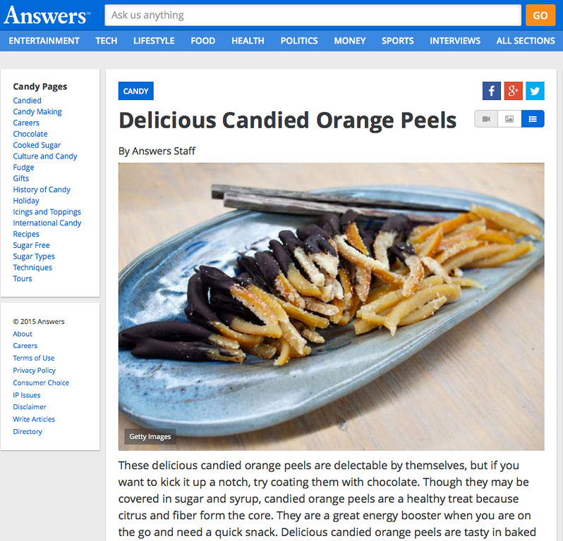 Answers.com - Candied Orange Peels