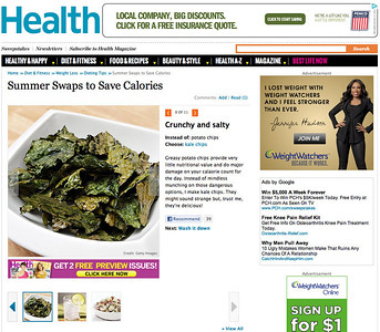 Baked Kale Chips on Health.com