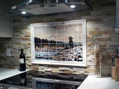 Gig Harbor - Transferred to tile (by Cooley's Specialties in Tacoma, WA 253 229 5628) for Sayers' kitchen backsplash.