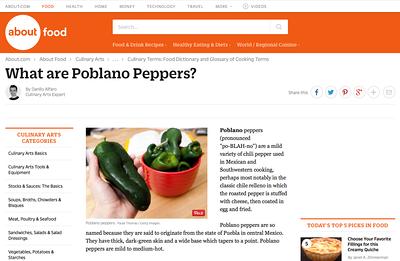 about.com - Poblanos