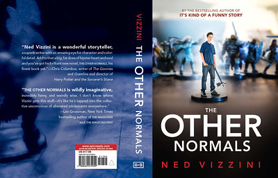 The Other Normals book cover (background of front cover and back cover)