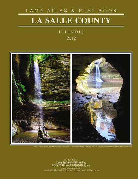 Published image on cover of LaSalle County, Illinois 2012 Land Atlas and Plat Book