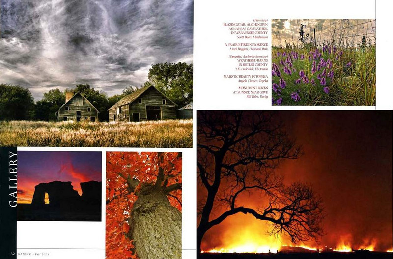 Page spread from Kansas! Magazine Fall 2009
