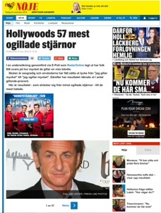 Sean Penn on BerattandeSomBeror.SE in Sweden