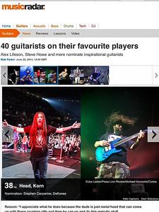 Brian 'Head' Welch (KoRn) on MusicRadar.com