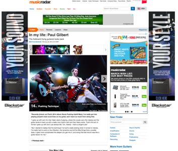 Billy Sheehan & Paul GIlbert on MusicRadar.com
