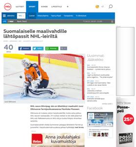 Jussi Olkinuora on MTV.com in Finland
