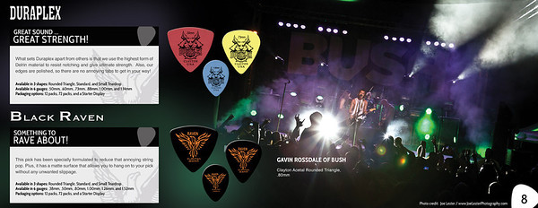 Gavin Rossdale Ad in the Clayton Guitar Picks Catalogue