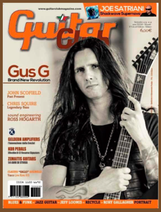 Gus G. (Ozzy Osbourne) on the Cover of Guitar Club Magazine in Italy